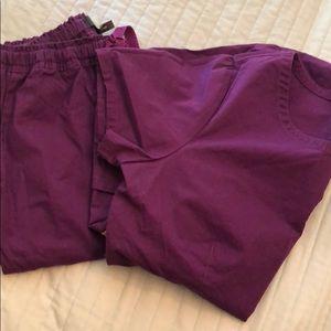 Purple jaanuu scrub set